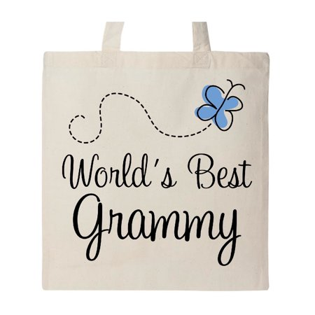 Grammy Butterfly Custom Tote Bag Natural One Size