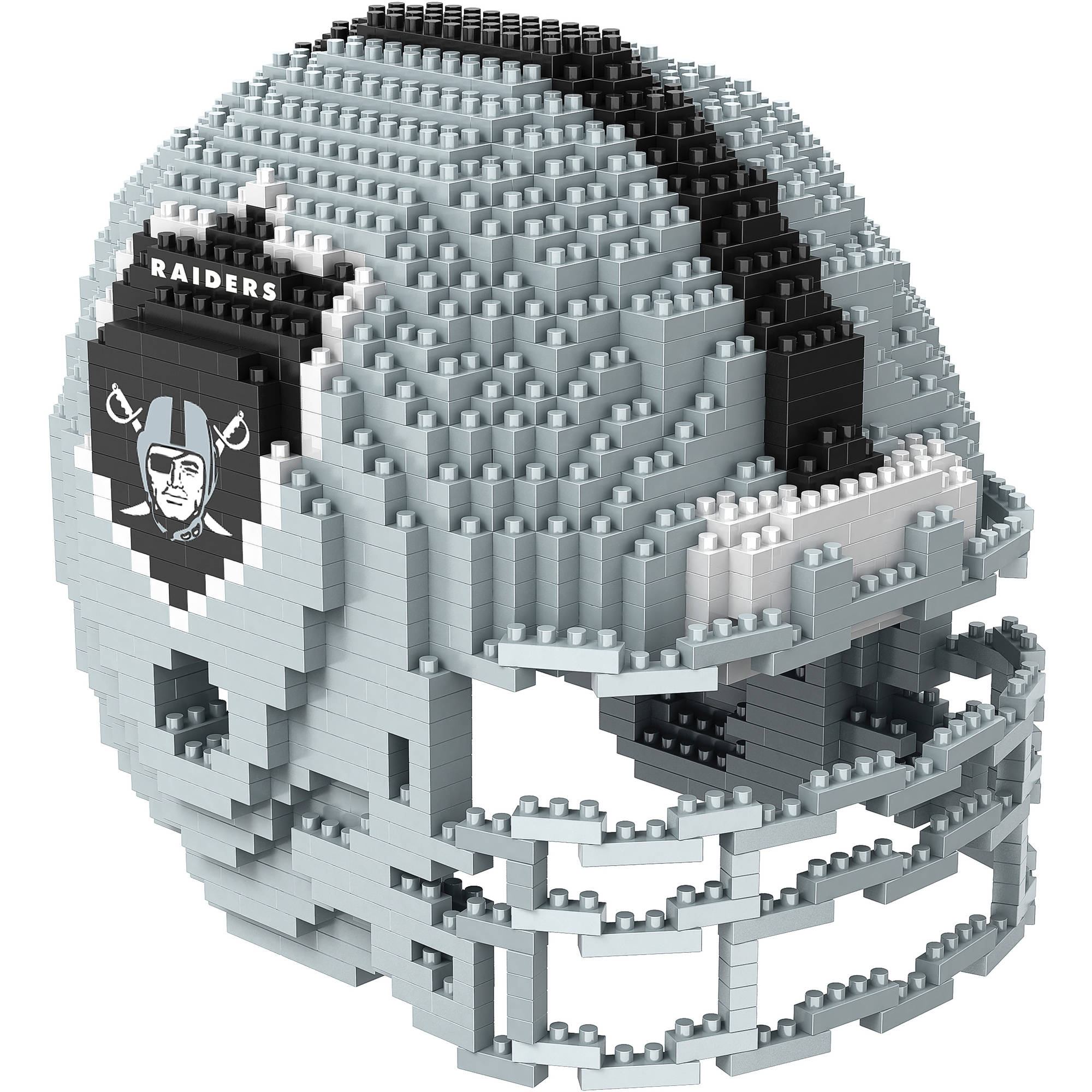 Forever Collectibles 3D BRXLZ Mini Helmet, Oakland Raiders