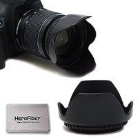 58MM Lens Hood (Hard) For Canon Cameras including CANON Rebel (T7i T6S T6i T6 T5i T5 T4i T3i T3 T2i T1i XT XTi XSi SL1), CANON EOS (800D 750D 700D 650D 600D 550D 500D