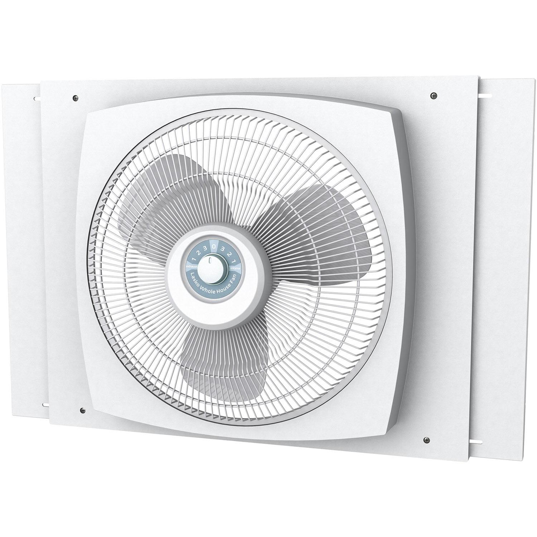 """Lasko 16"""" Electrically Reversible Window Fan with Storm Guard"""