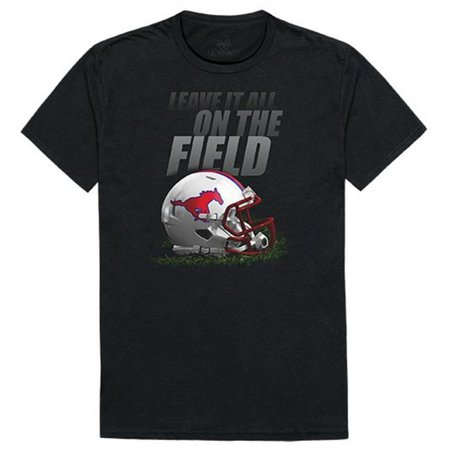 W Republic Apparel 524-150-E27-02 Southern Methodist University Gridiron Mens Tee Shirt - Black, Medium - image 1 de 1