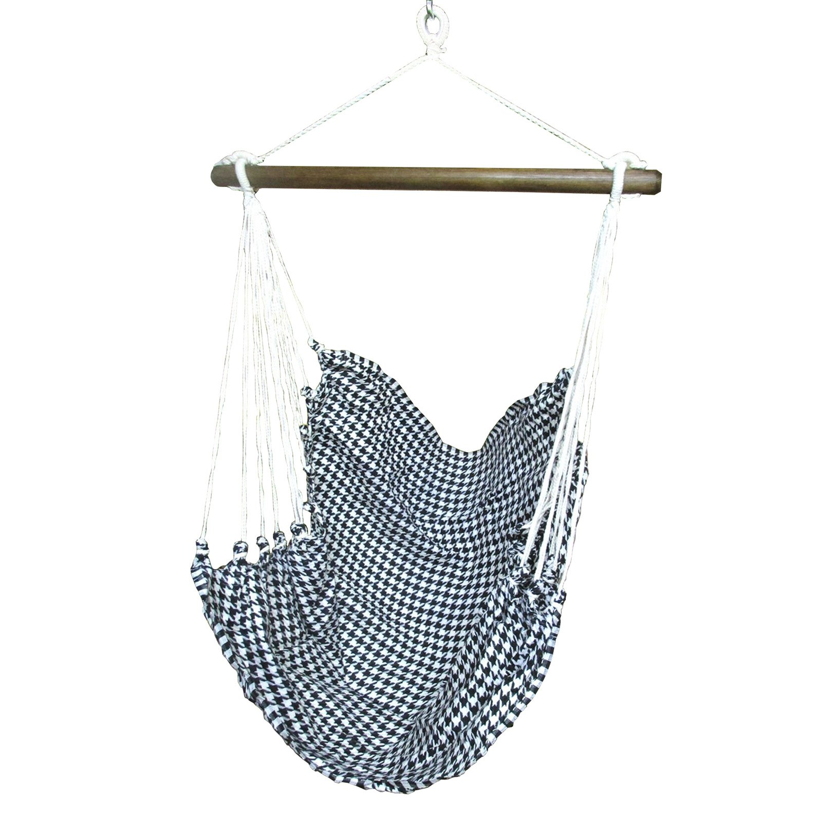 Magnolia Casual Hounds Tooth Fabric Hammock Chair