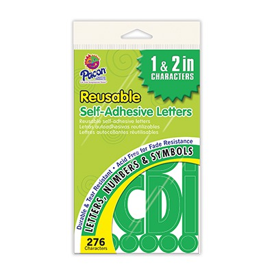 SELF STICK LETTERS GREEN SCBPAC51661-10 (pack of 10)
