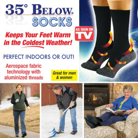 Socks Keep Your Feet Warm - 35 Below Socks Keep Your Feet Warm and Dry Aluminized Fibers Black