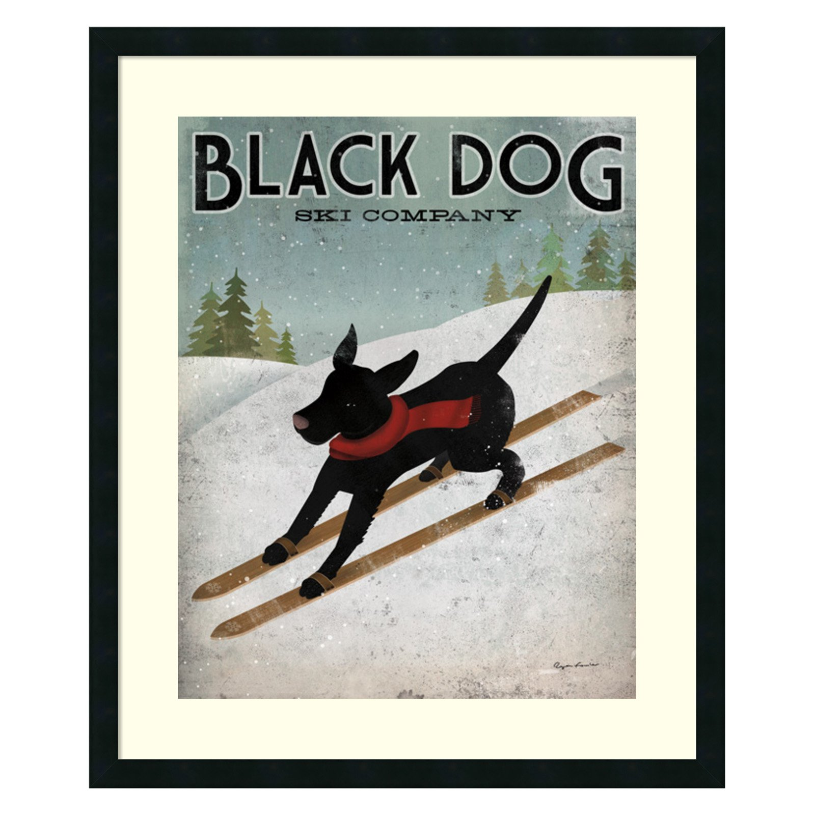 Amanti Art Black Dog Ski Co. Framed Wall Art by Ryan Fowler