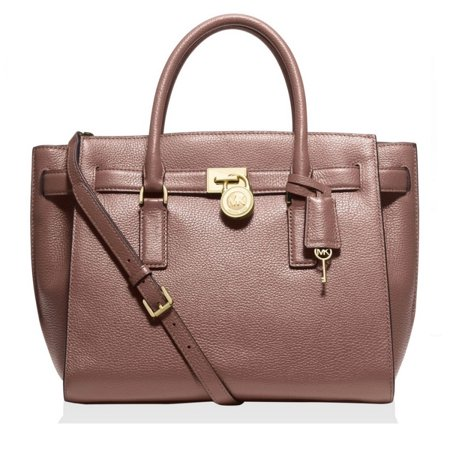 23cdbb3a6136 MICHAEL Michael Kors - MICHAEL KORS Hamilton Traveler Large Leather Dusty  Rose Satchel Handbag - Walmart.com