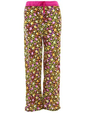 Sweet N Sassy Girls Leopard Orange Pajama Pants