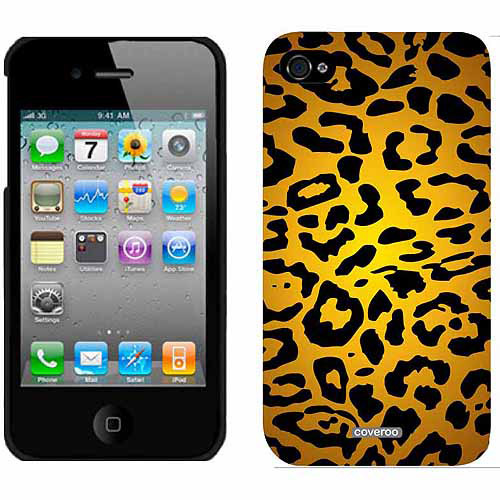 Lipstick Leopard Design on Apple iPhone 4/4s Thinshield Snap-On Case by Coveroo