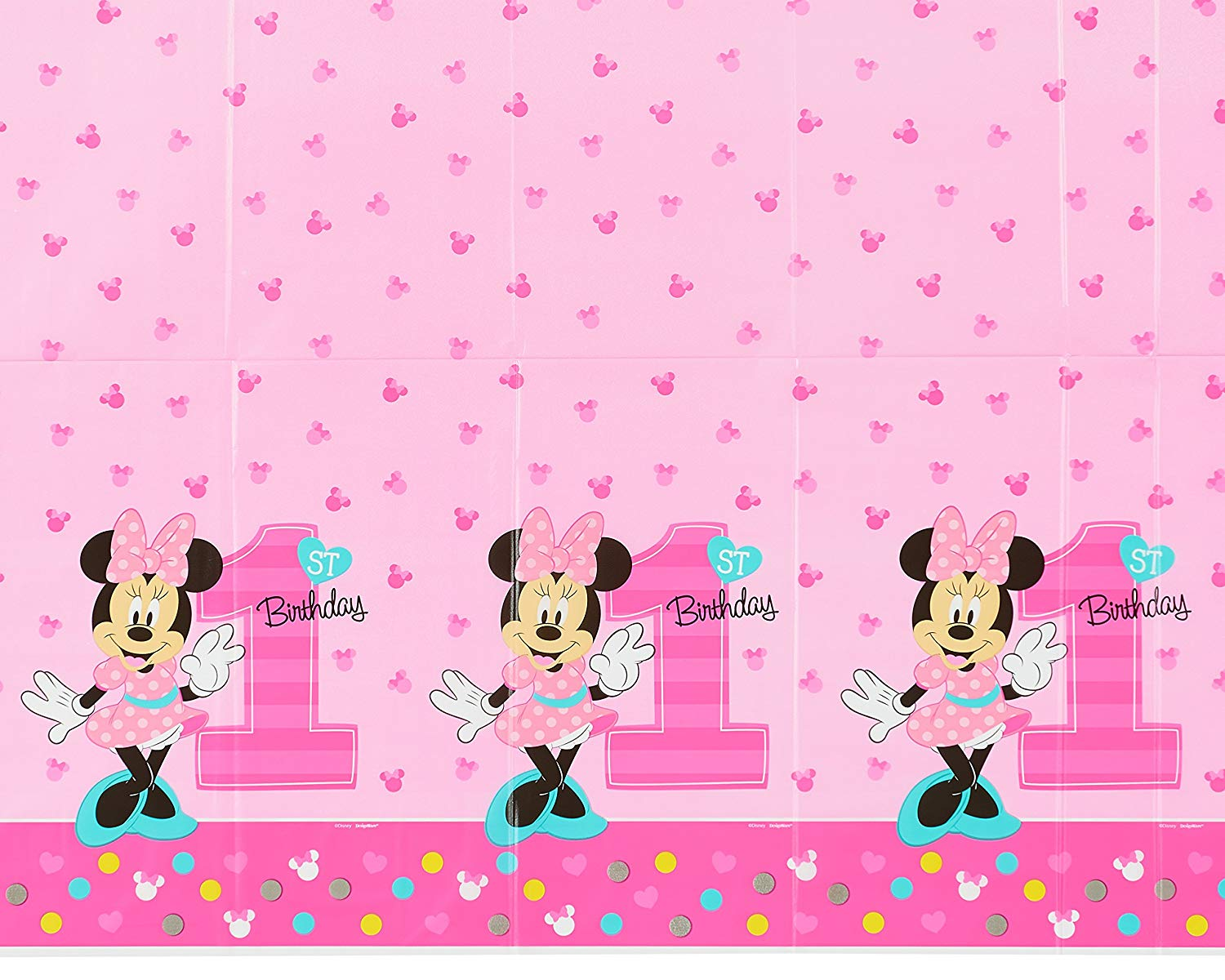 sc 1 st  Walmart & Minnie Mouse 1st Birthday Plastic Table Cover 54\