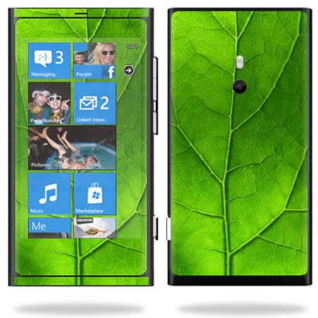 Mightyskins Protective Vinyl Skin Decal Cover for Nokia Lumia 800 4G Windows Phone Cell Phone wrap sticker skins Green