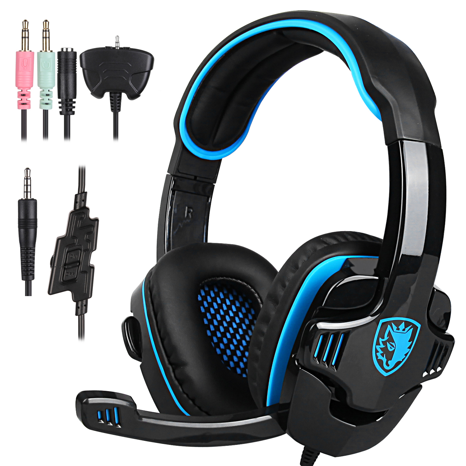 Cheerwing SADES SA-708 GT Stereo HiFi Gaming Headset Headphone with Microphone for PS4/Xbox360/Xbox One New Verison/PC Mac SmartPhone