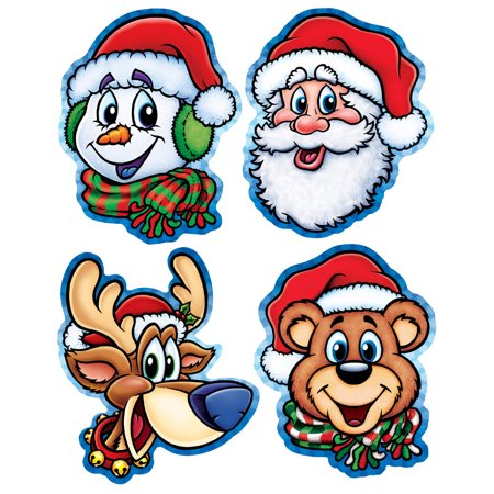 Set Of 4 Christmas Companion Cutouts Party Decorations 13