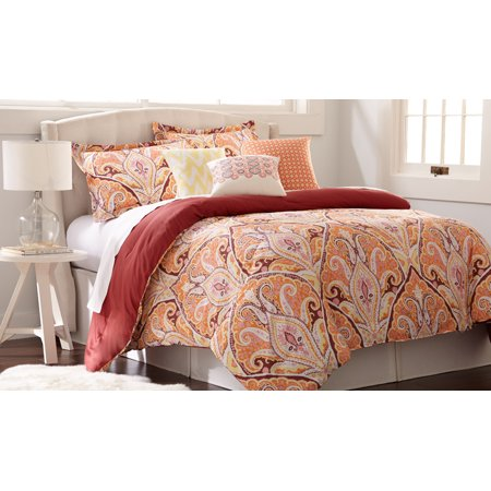 Image of 200 Thread Count 100% Cotton 6-piece comforter set Paisely Queen