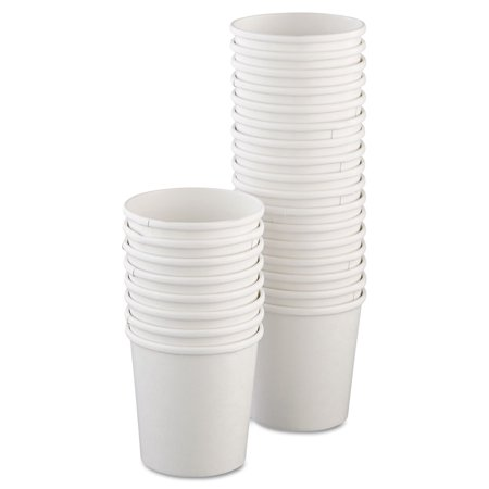 Dart H4165-2050 Flexstyle Double Poly Paper Containers, 16oz, White, 25/pack, 20 Packs/carton