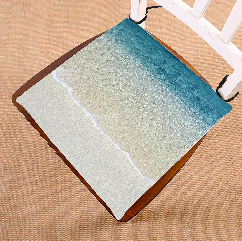gckg beach chair pad seat cushion chair cushion floor cushion with breathable memory inner. Black Bedroom Furniture Sets. Home Design Ideas