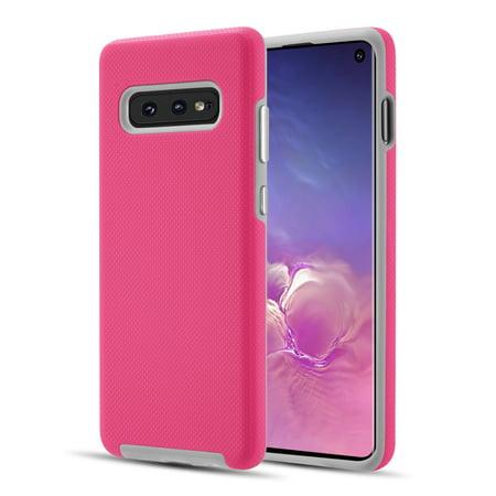 Samsung Galaxy S10e, S10 E Phone Case Ultra Slim Armor Hybrid Impact Anti-slip Shockproof Soft TPU Hard PC Rubber Silicone Full Body Protective Case PINK Cover for Samsung Galaxy S10 E /S10e
