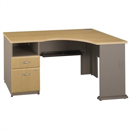 Bush Business Series A Corner Desk in Light Oak