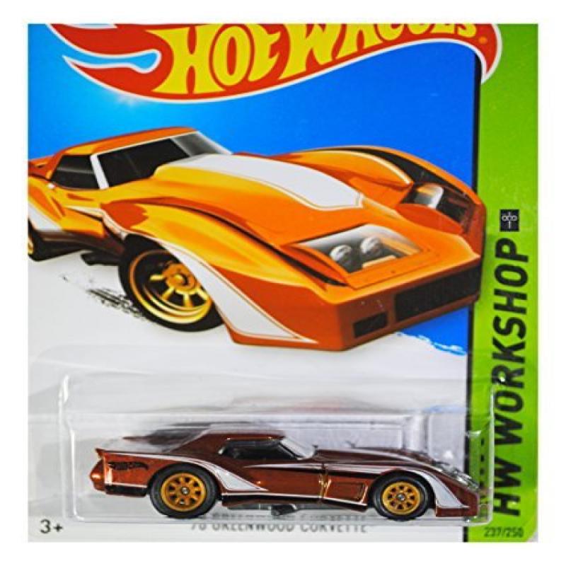 Hot Wheels 2014 HW Workshop '76 Corvette Greenwood 237/250, Brown (Super Treasure Hunt)