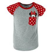 Disney Youth Minnie Mouse Peeking Pocket Tee Shirt