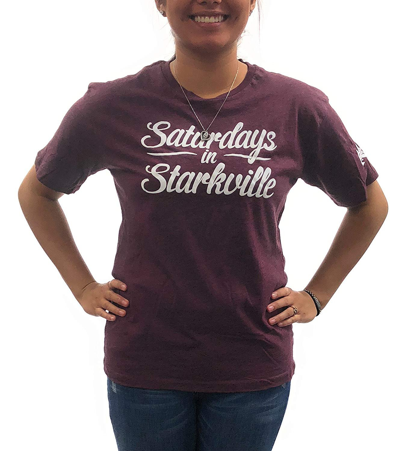 Royce Apparel Mississippi State Bulldogs Womens T-Shirt University Clothing Apparel Saturday in Starkville