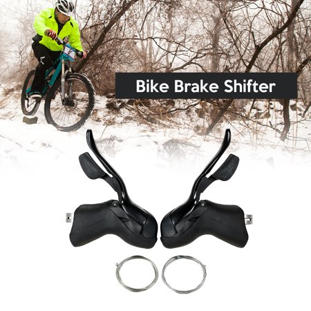 Bike Shifter Lever Front Rear Derailleur Set 8S / 9S / 10S Road Bike Brake Lever with Inner Shift Cable