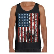 Awkward Styles American Flag Distressed Men Tank Top USA Pride 4th of July Shirt for Men Stripes and Stars Vintage USA Flag Men Tank United States of America 4th of July Top for Men 51 States