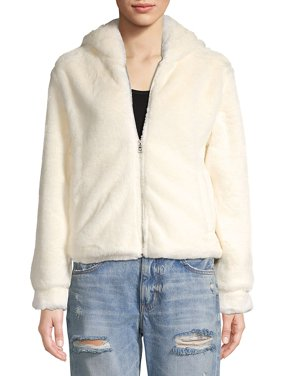 Faux Fur Hooded Jacket