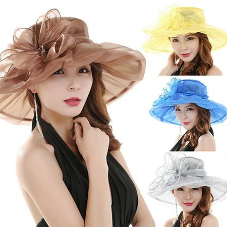 Girl12Queen Women's Fashion Summer Church Kentucky Derby Cap British Tea Party Wedding Hat - Kids Derby Hats