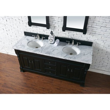 Darby Home Co Bedrock 72'' Double Antique Black Bathroom Vanity Set - Darby Home Co Bedrock 72'' Double Antique Black Bathroom Vanity Set