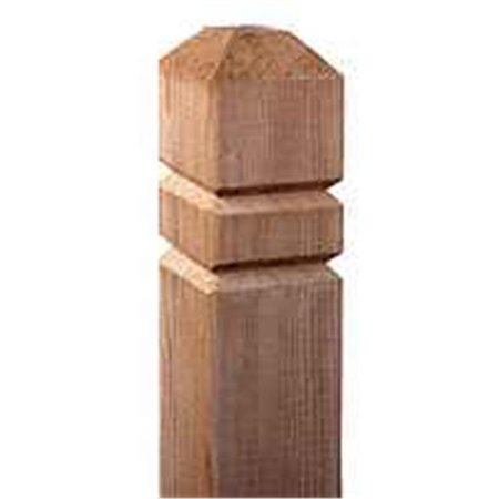 Universal Forest Prod 106049 Groove Deck Post, 4 x 4 x 48 In.