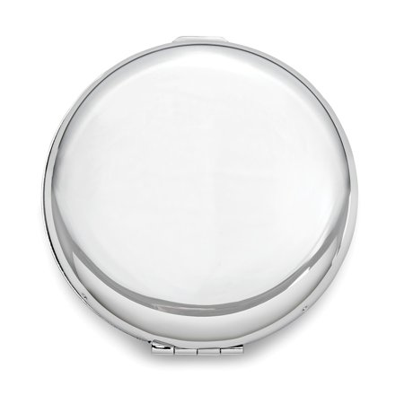Brass Makeup Compact (Brass with Silver-Tone Compact Mirror)
