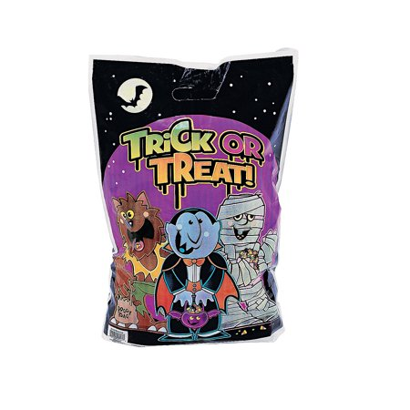 Fun Express - Boo Bunch Plastic Treat Bags (50pc) for Halloween - Party Supplies - Bags - Plastic Bags - Halloween - 50 Pieces (Fun Halloween Treats For School)