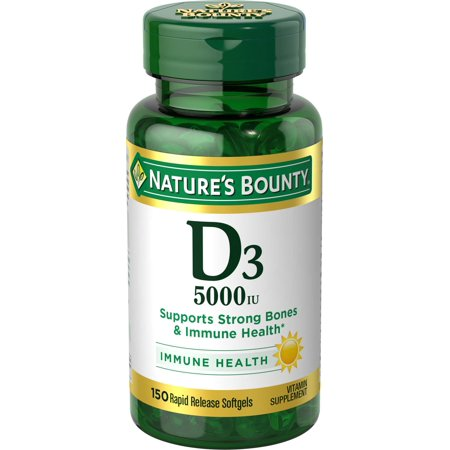 Nature's Bounty Vitamin D3 5000 IU, 150 Softgels, 2