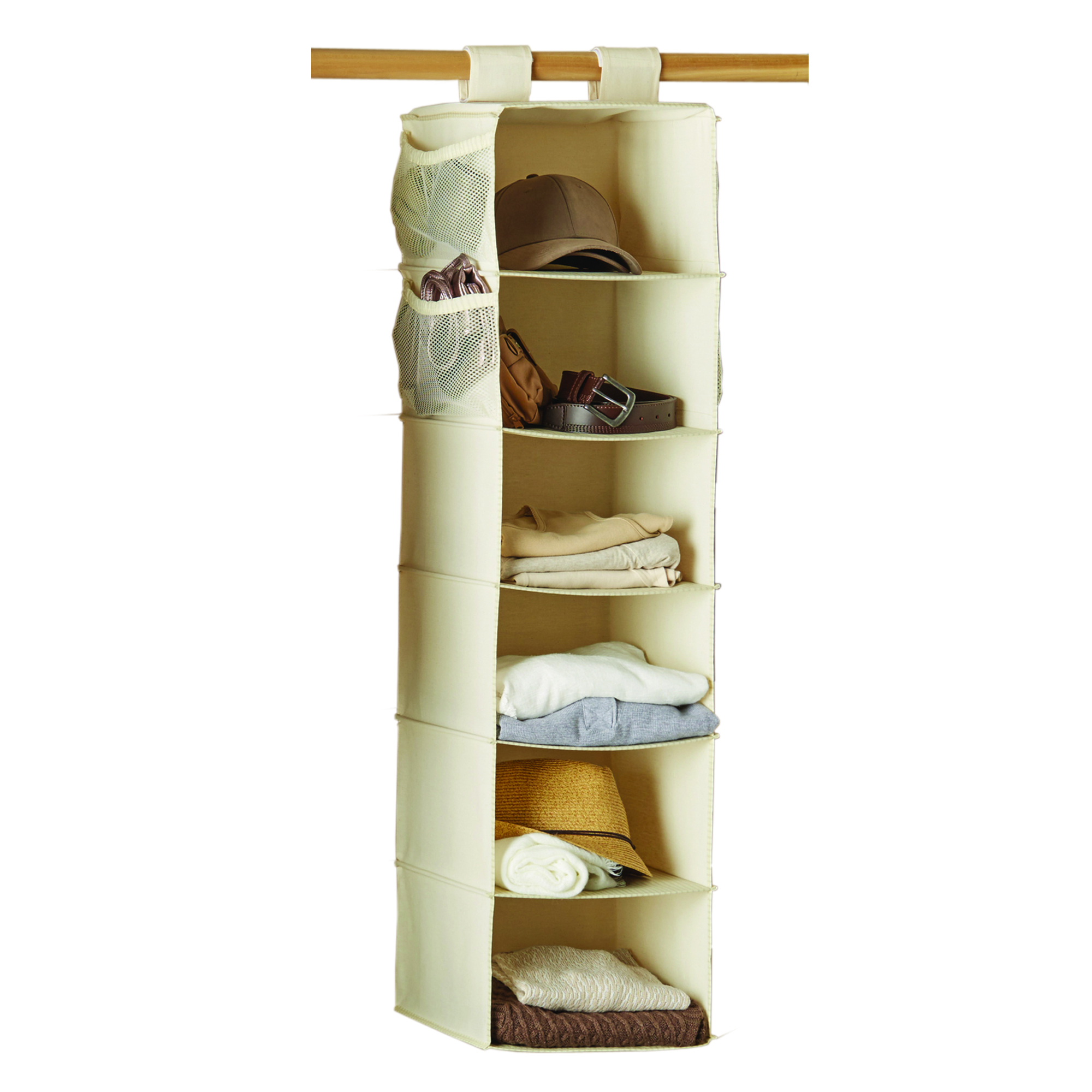 Mainstays 6 Shelf Canvas Closet Organizer