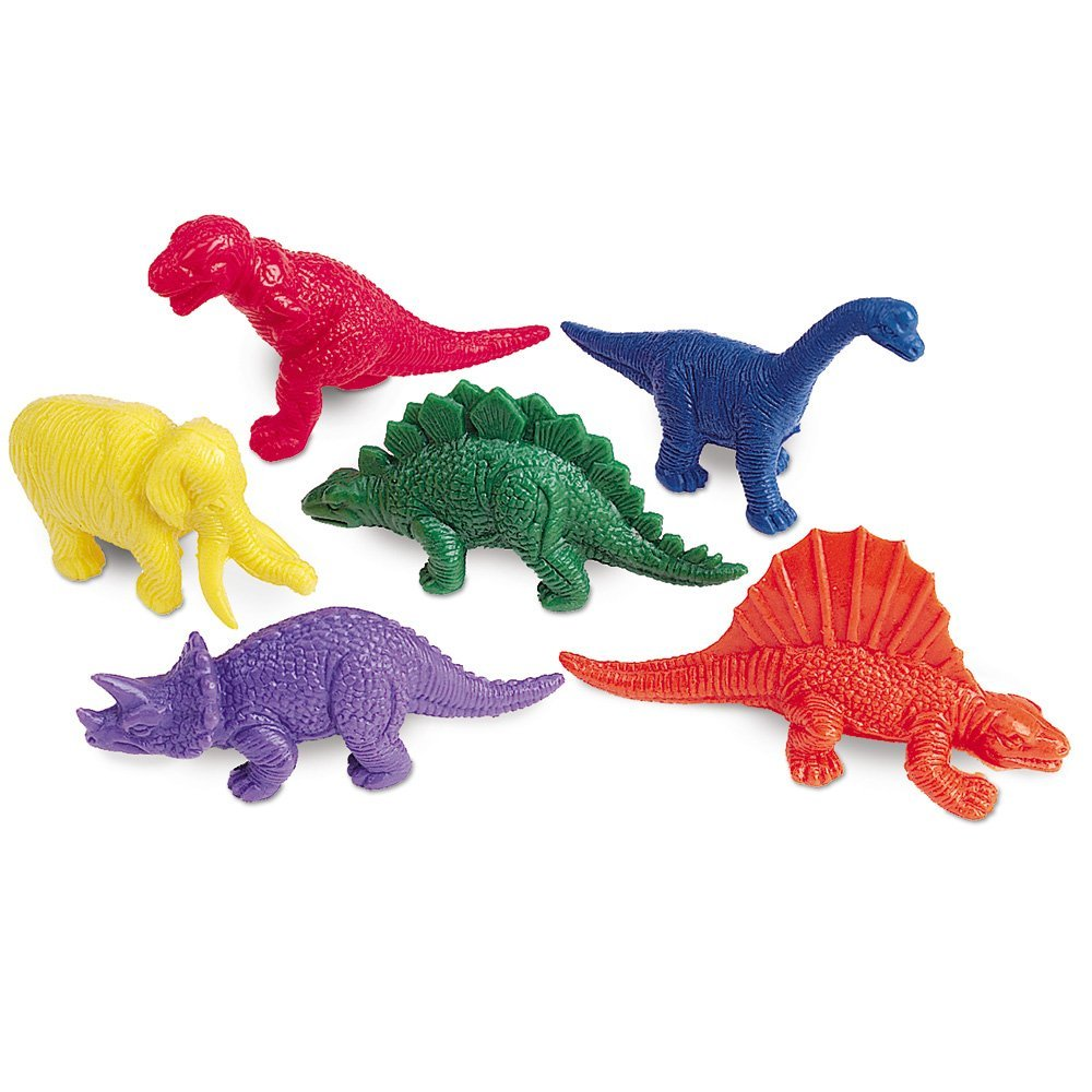 Learning Resources Mini-Dino Counters, Set of 108, Assorted Colors, Ages 3+