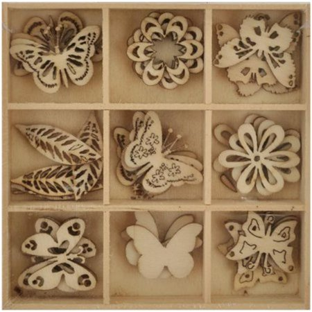 Lucky Dip Wooden Shapes 4 - Butterfly 1.25 in.](Wooden Butterfly)