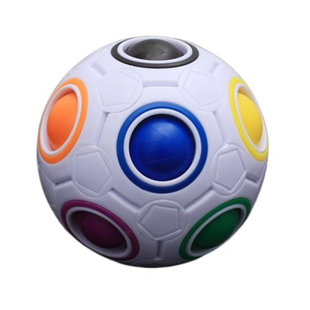 Magic Rainbow Ball Puzzle Block Toy Unique Kid Spherical Rainbow Ball Football Magic Toy Colorful Block Toy