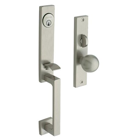 - Baldwin 6562150ENTR Satin Nickel New York Entrance Lock Trim