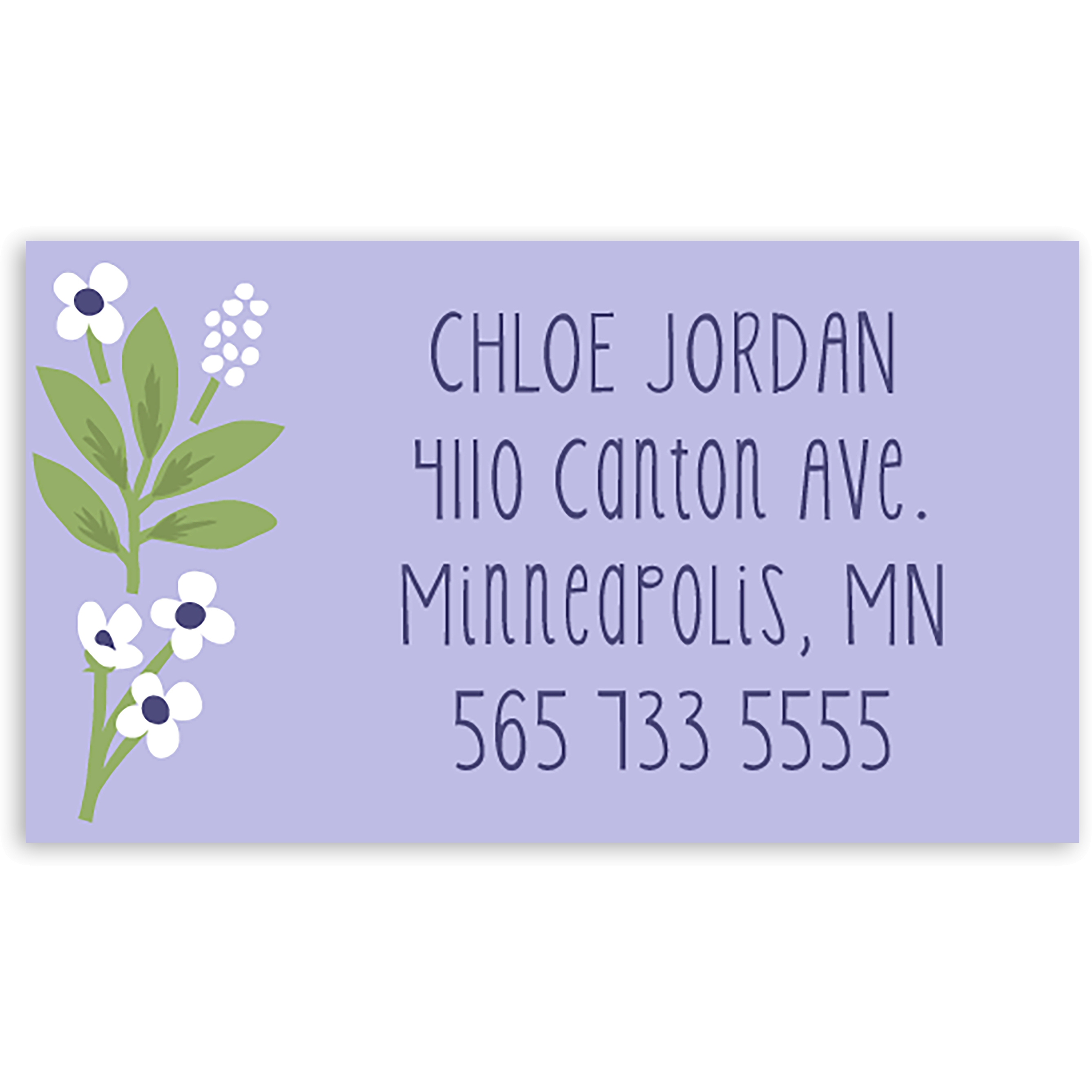 Thankful Florist - Personalized 3.5 x 2 Business Card