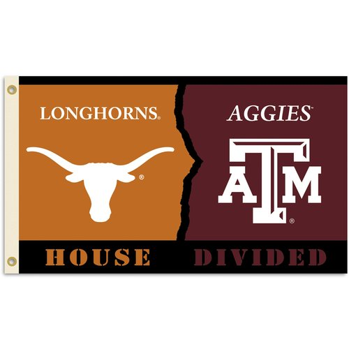 Team Pro-Mark NCAA Rivalry/House Divided Polyester 3 x 5 ft. Flag