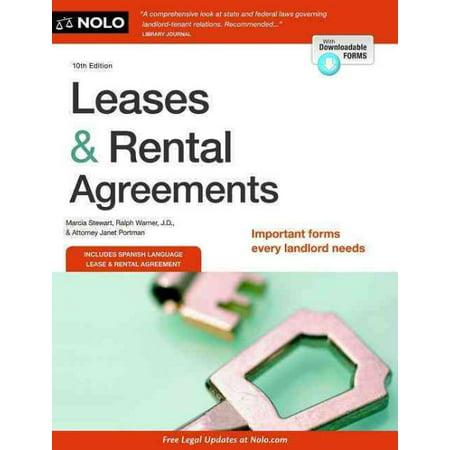 Leases Rental Agreements By Marcia Stewart Walmart Com