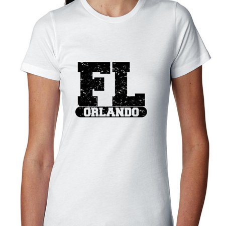 Orlando, Florida FL Classic City State Sign Women's Cotton T-Shirt - Party City In Orlando Fl