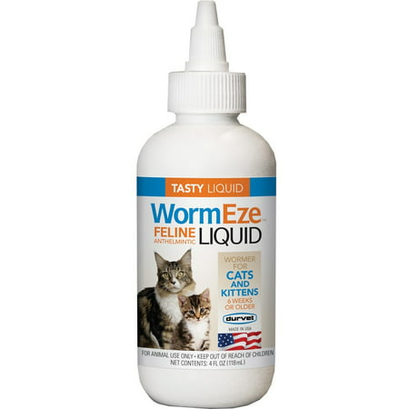 Durvet WormEze Feline Anthelmintic Cat & Kitten Liquid, 4 Oz