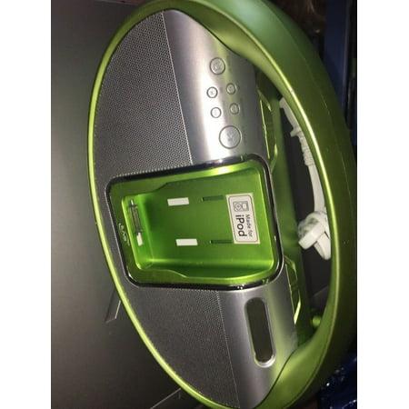 ilive green ipod dock speaker stereo