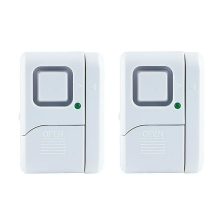 GE Personal Security Window/Door Alarm, 2-Pack, Battery Operated, 45115
