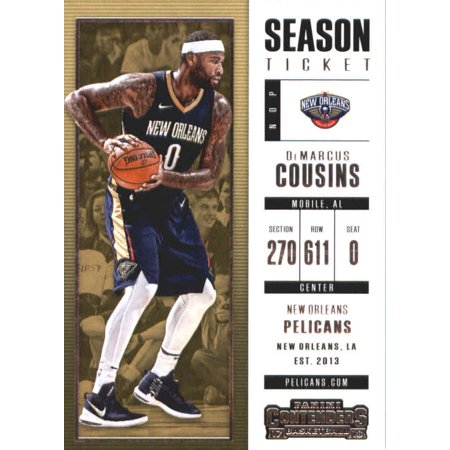 2017-18 Panini Contenders Season Ticket #70 DeMarcus Cousins New Orleans Pelicans Basketball Card