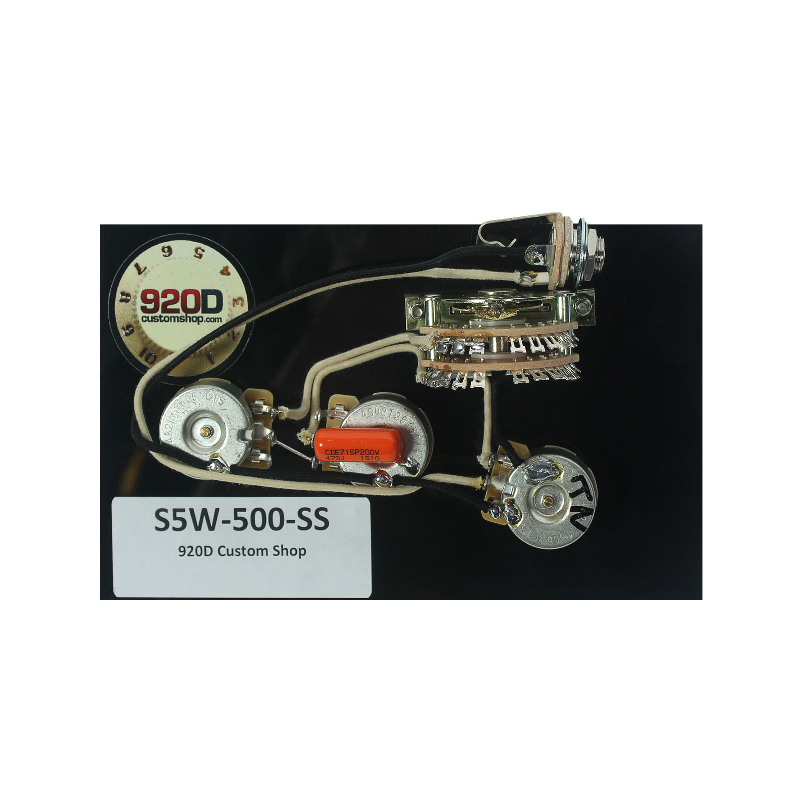 920D Custom Shop Strat 5-way Wiring Harness 500K Super Switch for HH Guitars by