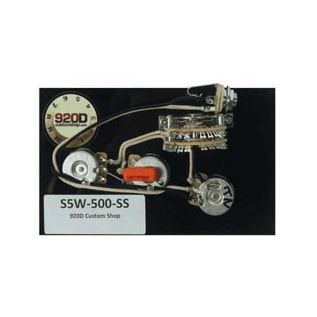 920D Custom Shop Strat 5-way Wiring Harness 500K Super Switch for HH Guitars