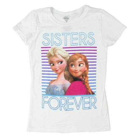 Frozen - Sisters Forever Girls Youth T-Shirt (Frozen Sisters Forever)