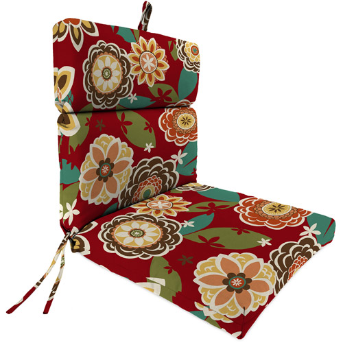 Jordan Manufacturing Outdoor Patio Replacement Chair Cushion, Annie Cherry